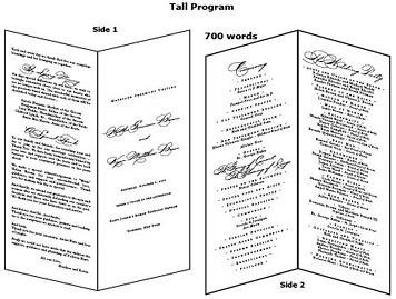 Enter Your Wedding Program Wording