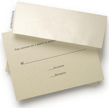 Number the back of the rsvp cards in case your guests forget to write their