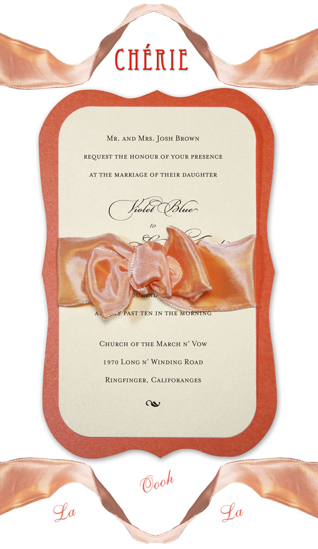More French inspired Vintage Wedding Invitations