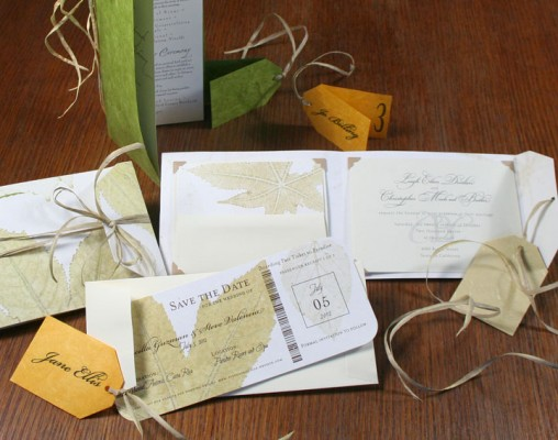 Leaf Suite of Handmade Eco Paper