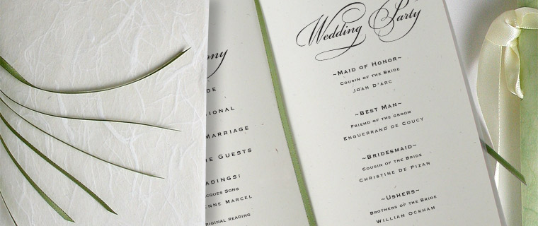 Wedding Programs | Do It Yourself Wedding Programs
