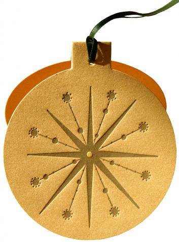 Gold on Gold Ornament Card